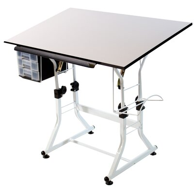 Martin Universal Design Ashley Creative White Melamine Hobby Table