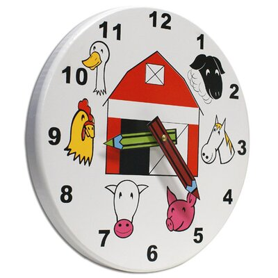 "Holgate Toys 10"" Kids Farm Wall Clock"