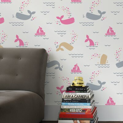 Aimee Wilder Designs Whalentine Wallpaper