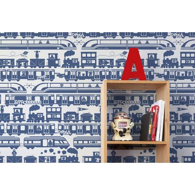 Aimee Wilder Designs Robo Rail Wallpaper by Aimée Wilder