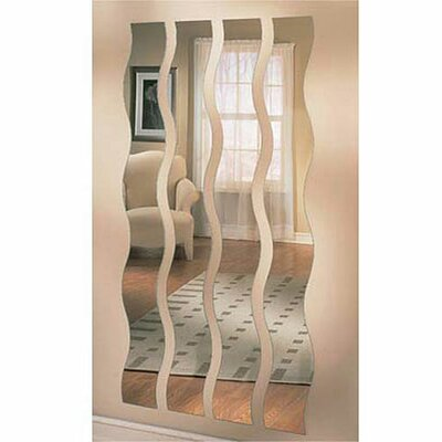 Mirrotek Wave Strip Mirror (Set of 4)