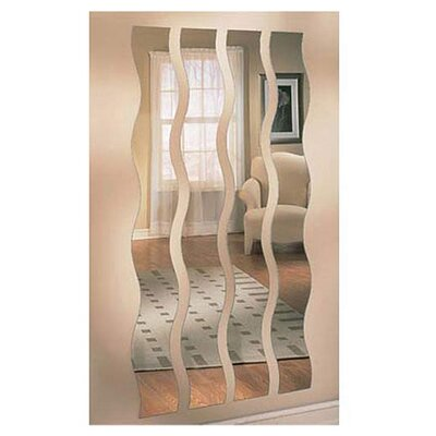 Mirrotek Wave Strip Wall Mirror Amp Reviews Wayfair