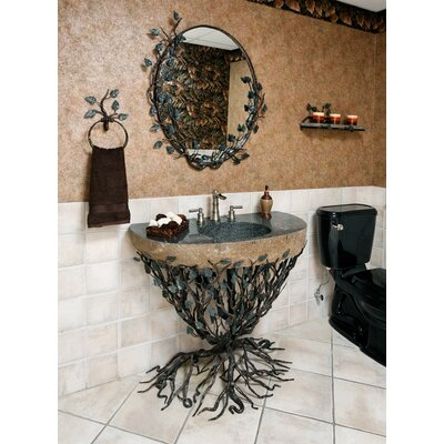 Organic Suites Embracious Aspen Forest Iron Pedestal Bathroom Sink - VAN-EMB-2532 / ...