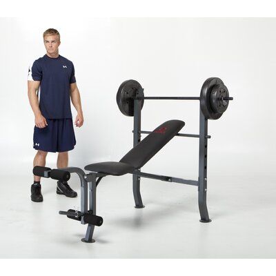 Marcy Bench with 80 lb. Weight Set