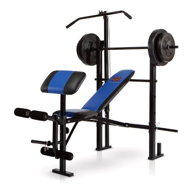 Marcy Standard Weight Adjustable Olympic Bench With 120 Lb