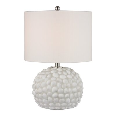 """Dimond Lighting Shell 19"""" H Table Lamp with Drum Shade"""