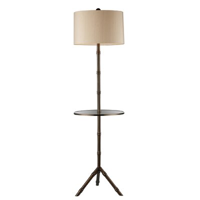 Dimond Lighting Stanton Floor Lamp in Dunbrook With Glass Tray