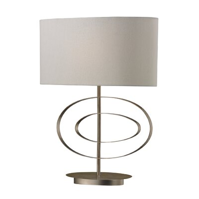 """Dimond Lighting Carson 21"""" H Table Lamp with Oval Shade"""