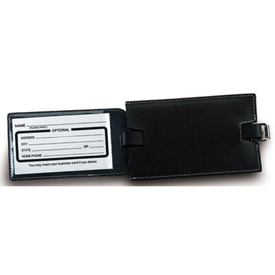 Lewis N. Clark Slim Leather Luggage Tag with Closed Security Window