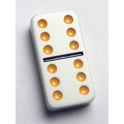 Double 6 Professional Size Dominoes Color Dots