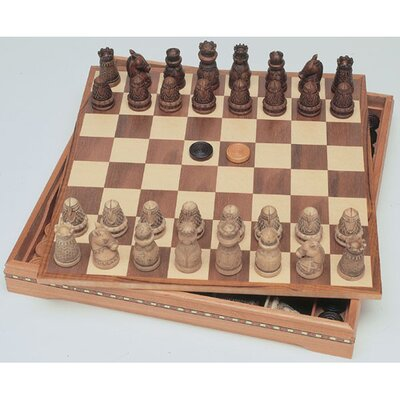 Medieval Chess / Checkers Set