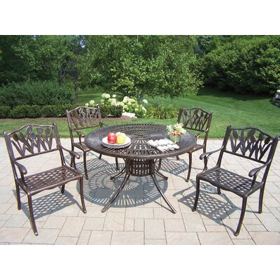 Oakland Living Sunray Tulip 5 Piece Dining Set