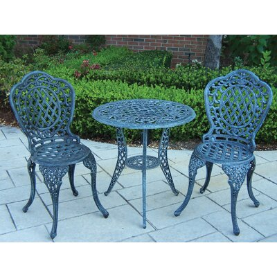 Oakland Living Mississippi 3 Piece Bistro Set