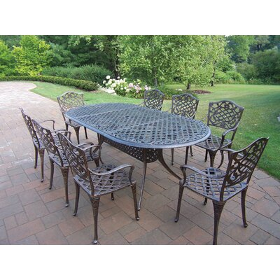 Oakland Living Mississippi 9 Piece Dining Set