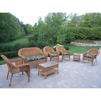Oakland Living Resin Wicker 7 Piece Seating Group