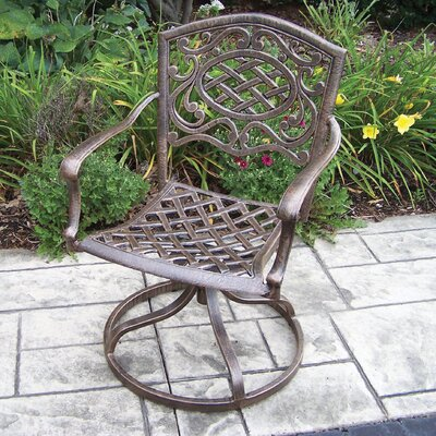 Oakland Living Mississippi Cast Aluminum Swivel Rocker - Pack of 2