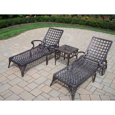 Elite Three Piece Chaise Lounge Set