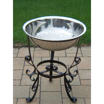 Oakland Living 20&quot; Stainless Steel Ice Bucket with Stand