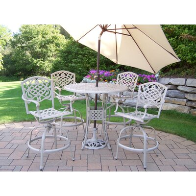 Elite Mississippi Swivel Bar Set with Umbrella