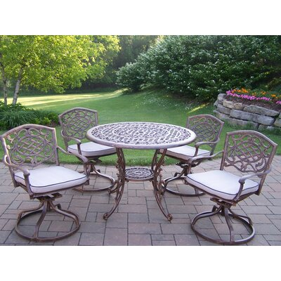 Oakland Living Mississippi Swivel Dining Set with Cushions