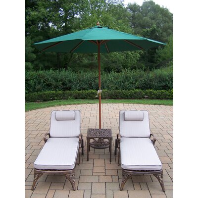 Oakland Living Mississippi 4 Piece Lounge Seating Group