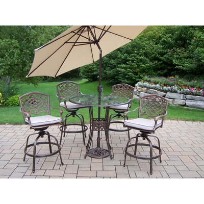 Hummingbird Mississippi Swivel Bar Set with Cushions and Umbrella