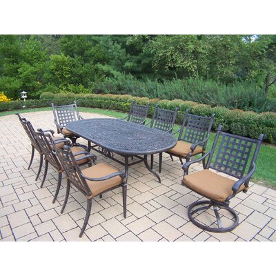 Oakland Living Belmont Oval Dining Set with Cushions