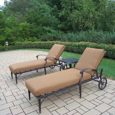 Oakland Living Belmont 3 Piece Chaise Lounge Seating Group