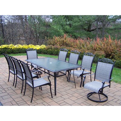 Oakland Living Sling 9 Piece Dining Set