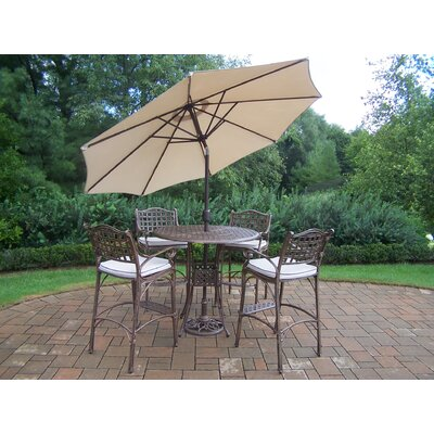 Oakland Living Elite Bar Set with Cushions and Umbrella