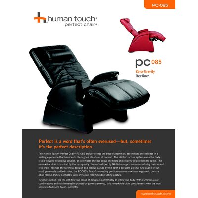 Human Touch PC-085 Perfect Chair® Zero Gravity Recliner
