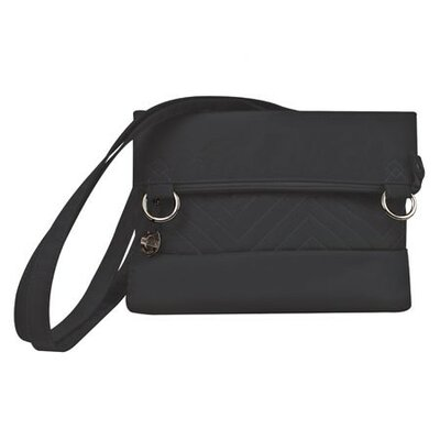 Quilted Fold-Over Shoulder Bag