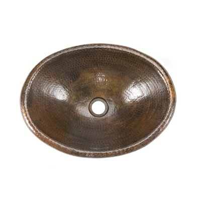 Premier Copper Products Small Oval Self Rimming Bathroom Sink