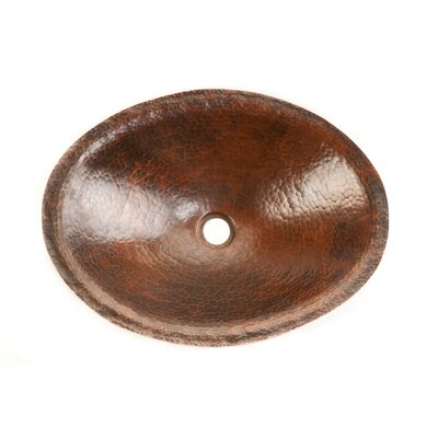 Premier Copper Products Oval Old World Hand Forged Copper Vessel Sink