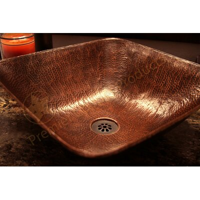 Square Vessel Bathroom Sink - VSQ14BDB