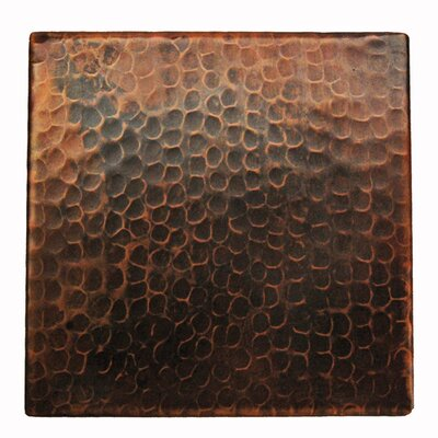 premier copper products 6 x 6 hammered copper tile in oil rubbed