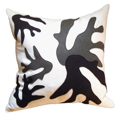 Balanced Design Coral Applique Pillow