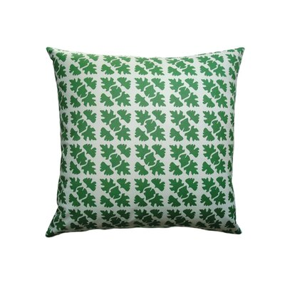 Balanced Design Hand Printed Canvas Shade Check Pillow
