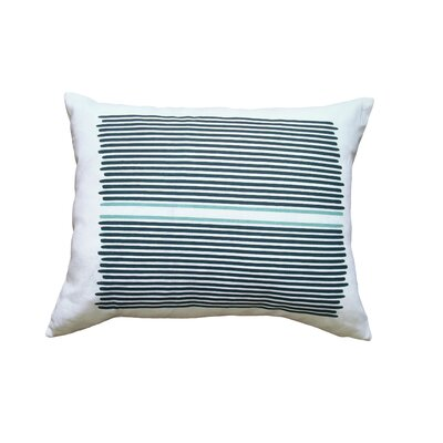 Balanced Design Hand Printed Linen Pillow Louis Stripe
