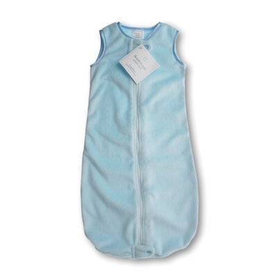 Swaddle Designs zzZipMe Sack in Pastel Blue Baby Velvet Solid Pastel
