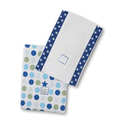 Swaddle Designs Baby Burpies® in Star with Multi Dots (Set of 2)