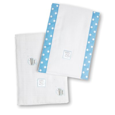 Swaddle Designs Marquisette Baby Burpies® in Mocha Striped Fish (Set of 2)