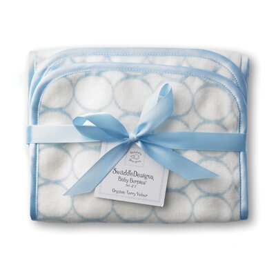 Swaddle Designs Certified Organic Cotton Baby Burpie in Pastel with Mod Circles on Ivory