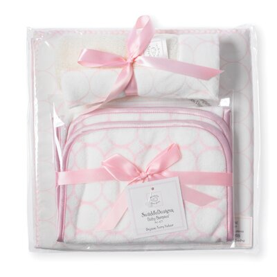 Swaddle Designs 3 Piece Gift Set in Organic Pastel Mod Circles on Ivory