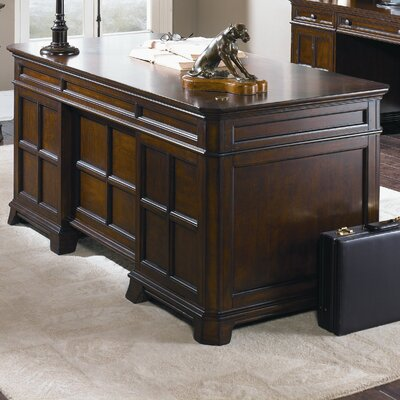 Liberty Furniture Remington Junior Executive Desk Base with 4 Drawers