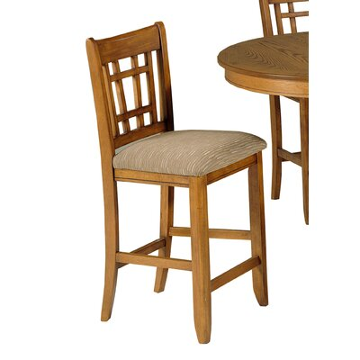 Santa Rosa Pub Casual Dining Upholstered Barstool in Mission Oak