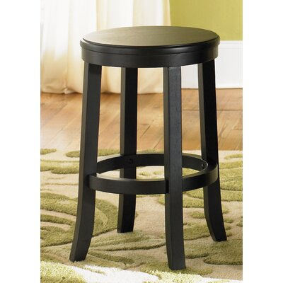 "Liberty Furniture 447 Pub Casual Dining 24"" Barstool in Rubbed Black and Cherry"