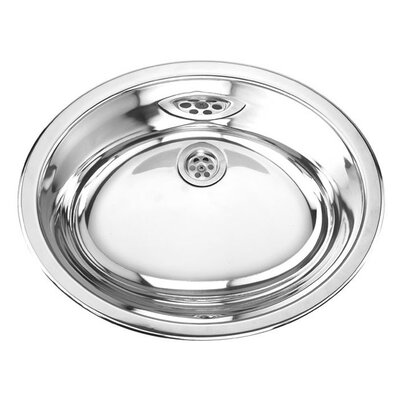 Stainless Steel Double Layer Oval Bathroom Sink - MAG300