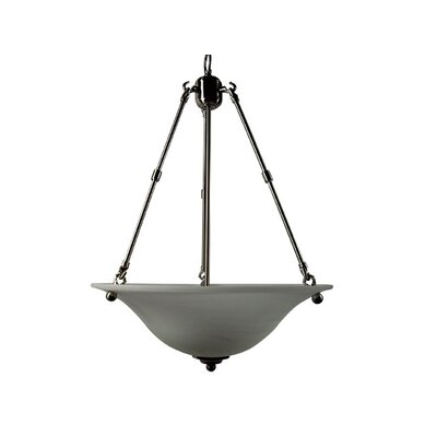 Yosemite Home Decor Bridal Veil 3 Light Foyer Inverted Pendant