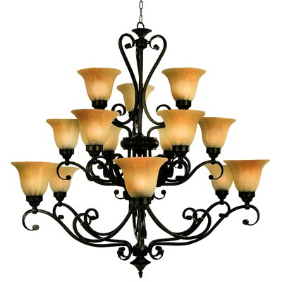 Yosemite Home Decor Florence 15 Light Chandelier